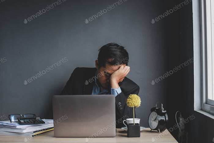 Stressed and Depression Worker