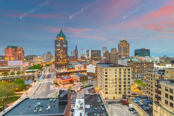 Milwaukee, Wisconsin, USA Downtown Skylin