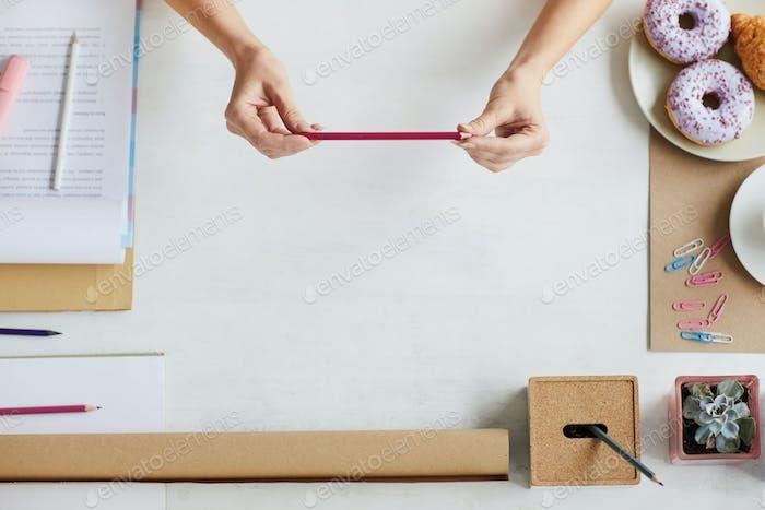 Pencil of architect