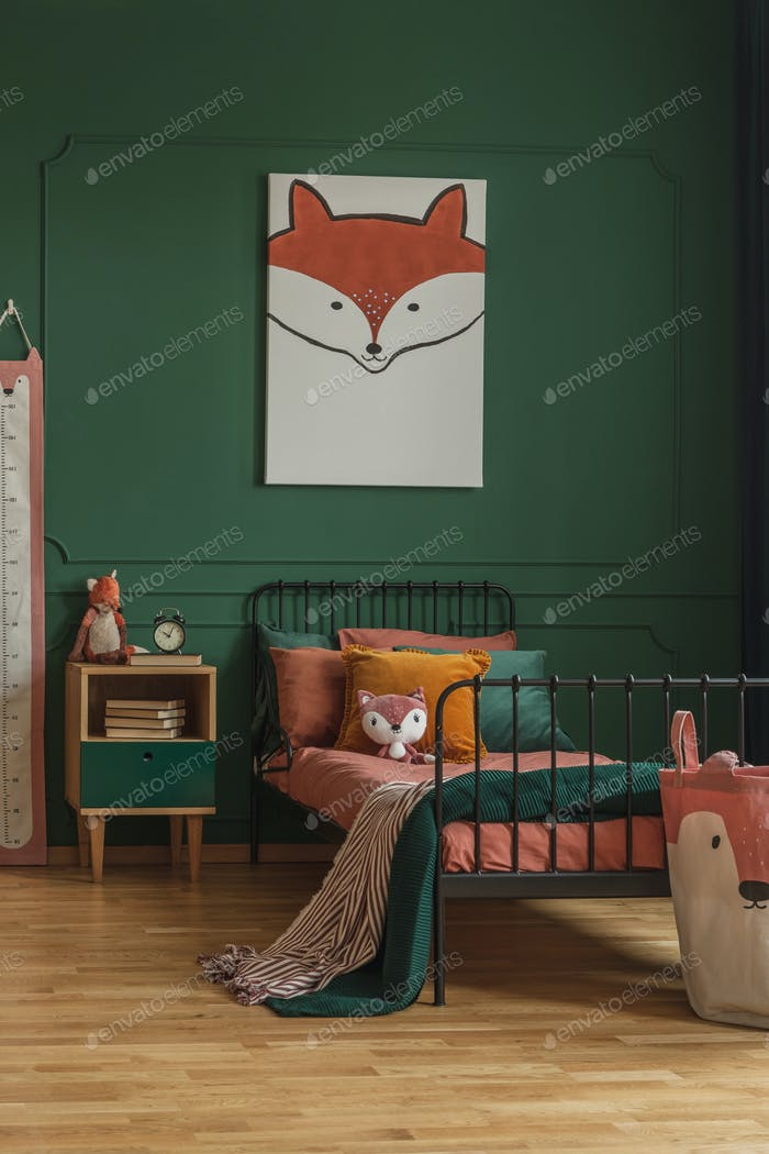 Cute fox painting
