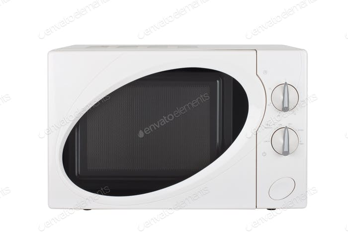 microwave oven on a white background