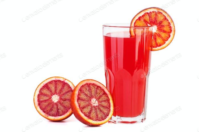 Red bloody orange juice