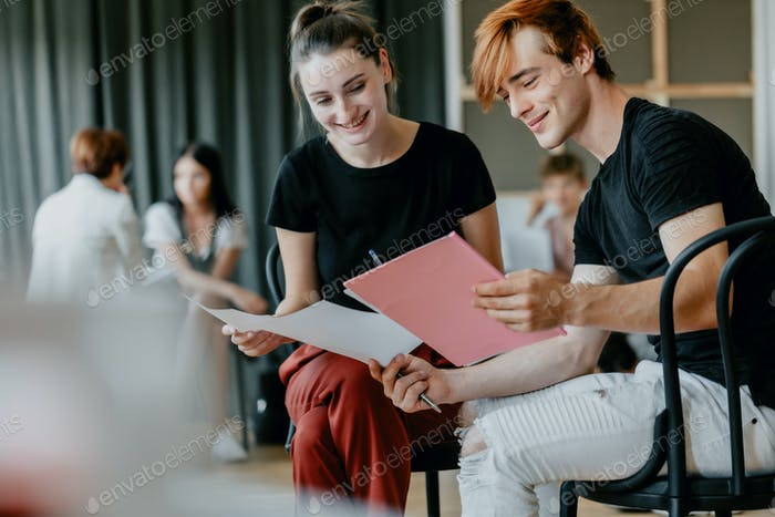 Reading the script together