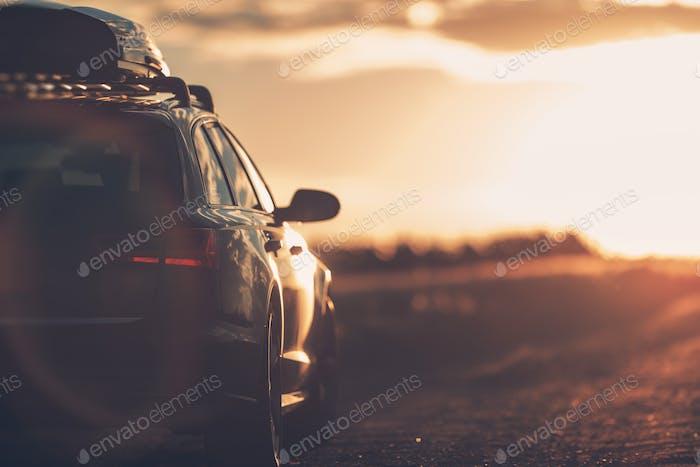 Voyage de vacances d'été sur la route