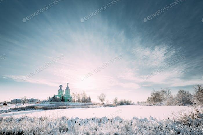 Village Krupets, Dobrush District, Gomel Region, Belarus. Old Wo