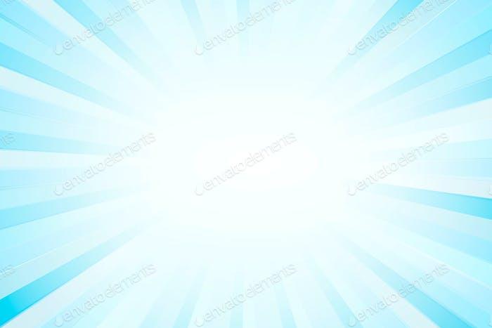 Blue sunburst effect patterned background