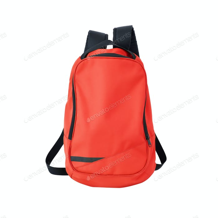 School bag red
