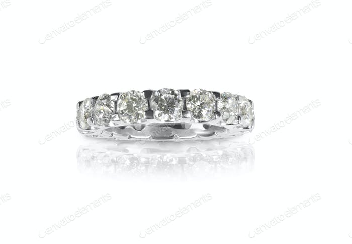Beautiful Diamond Wedding Anniversary Band bridal engagement Ring