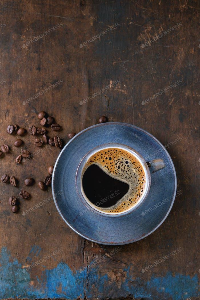 Tasse schwarzen Kaffee
