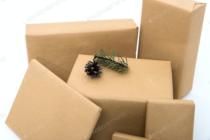 Christmas presents isolated