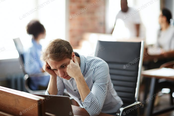 Businessman tired of work