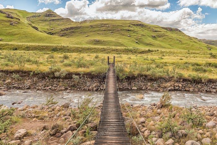 Pedestrian bridge over the Mlambonja River at  Garden Castle