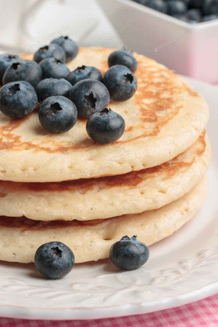 Buttermilk Pancakes wirh Blueberries