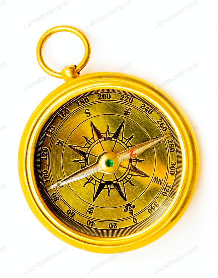 Kompass aus Messing im alten Stil