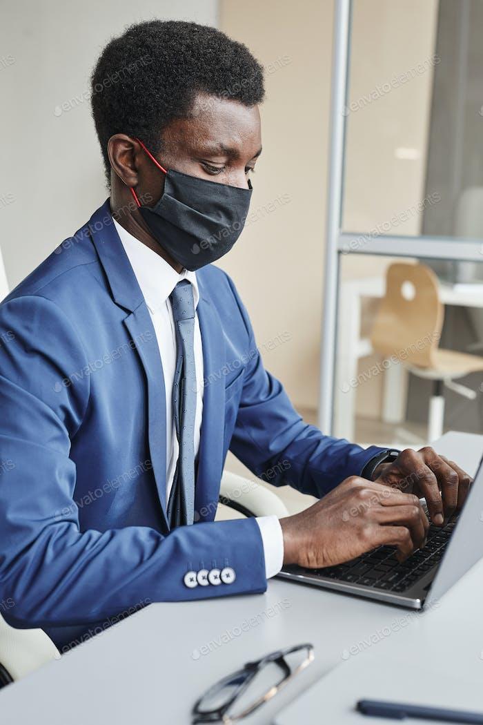 Man working during pandemic