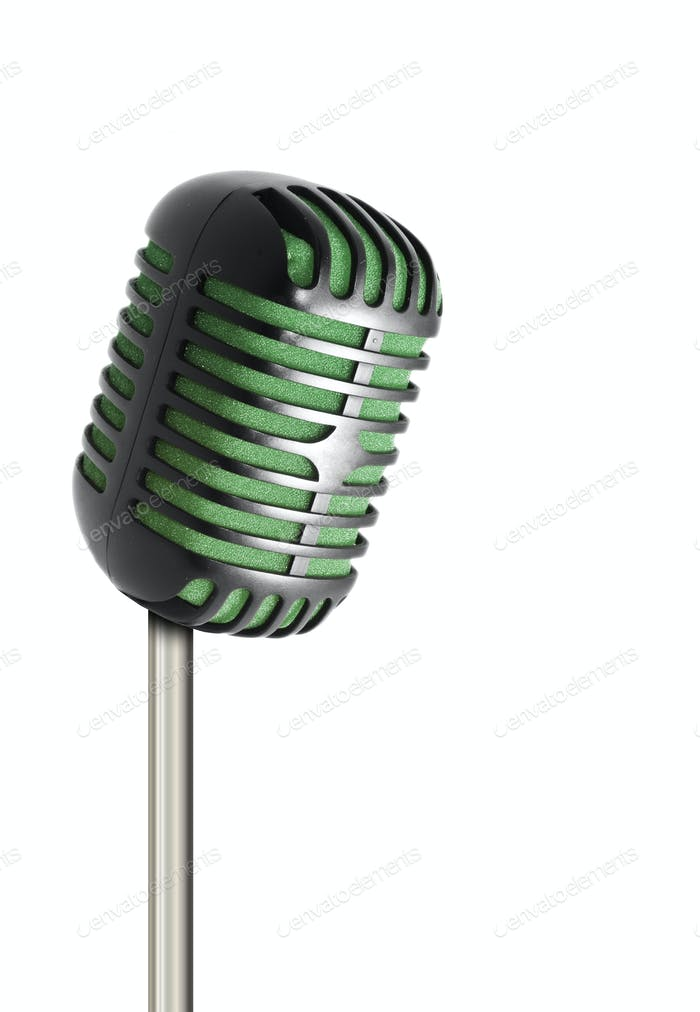 Vintage microphone isolated