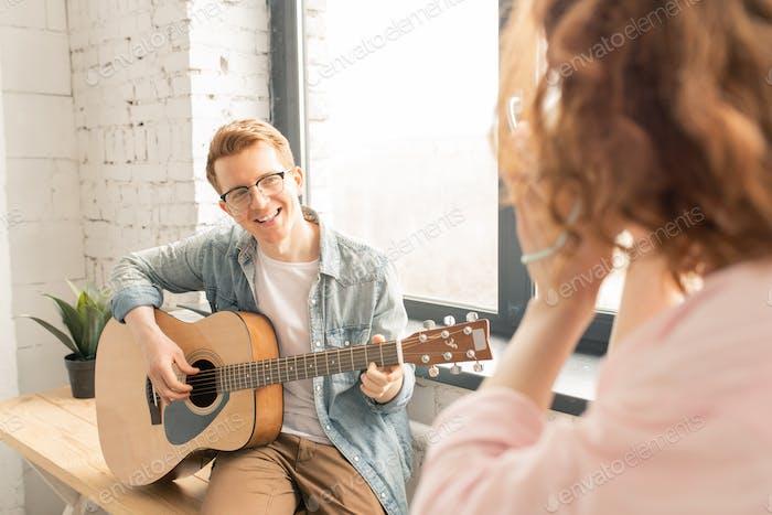Singing for camera