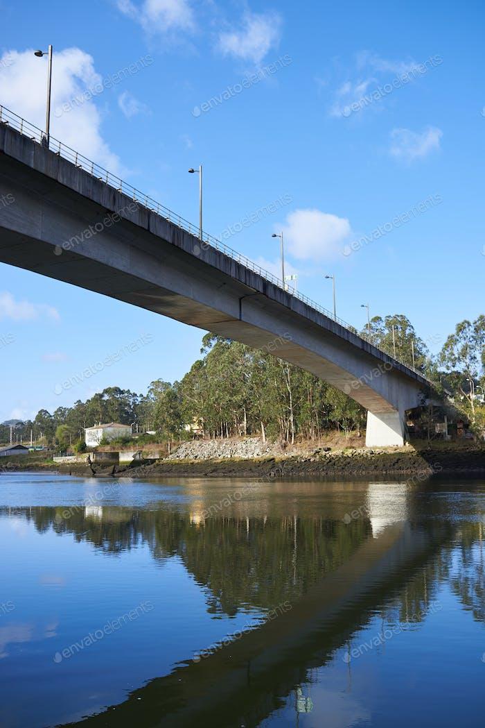 Train Bridge from below in Galicia