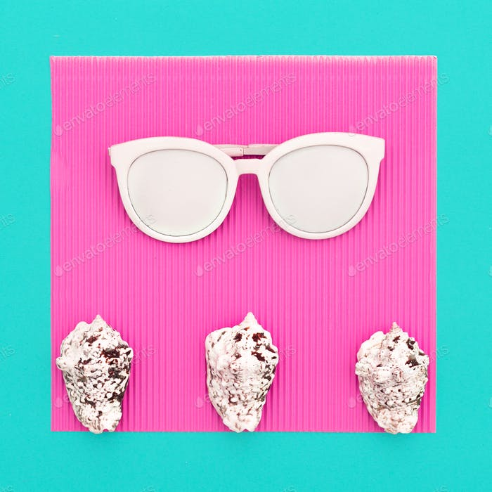 Accessory sunglasses. Minimal art