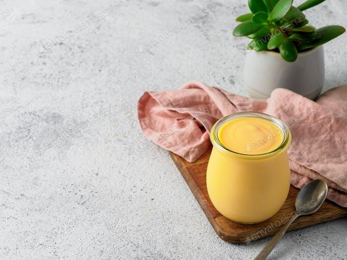 Mango Lassie - yogurt or smoothie with turmeric