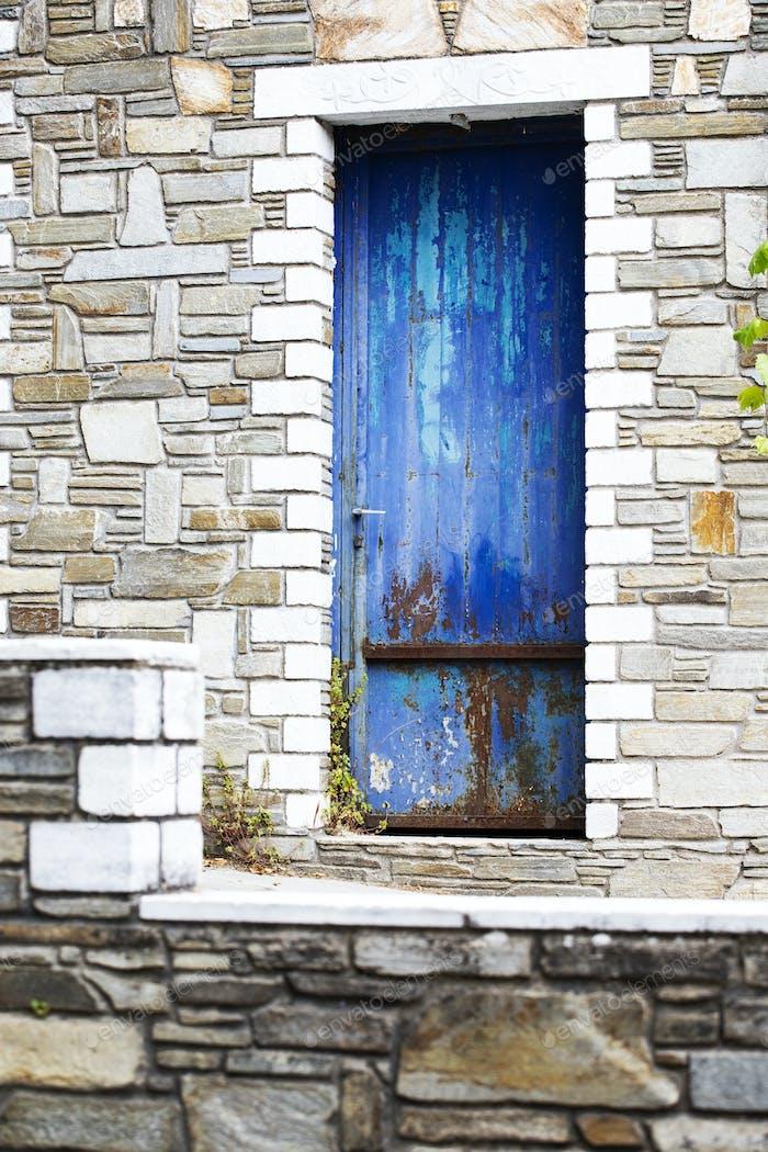 Greek style door