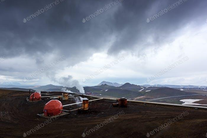 Geothermie-Kraftwerk in Island
