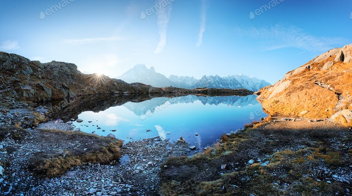 Lac de Chesery lake in France Alps