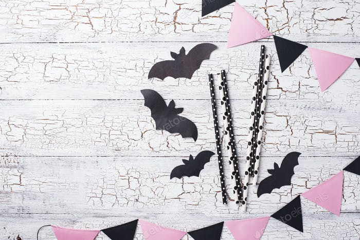 Halloween black and pink decor