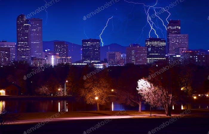 Denver Stormy Evening