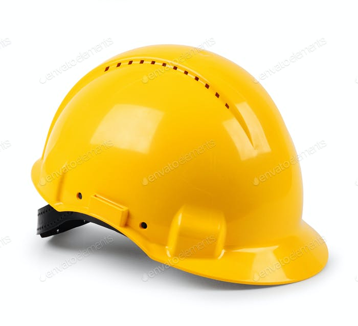 Modern yellow hard hat