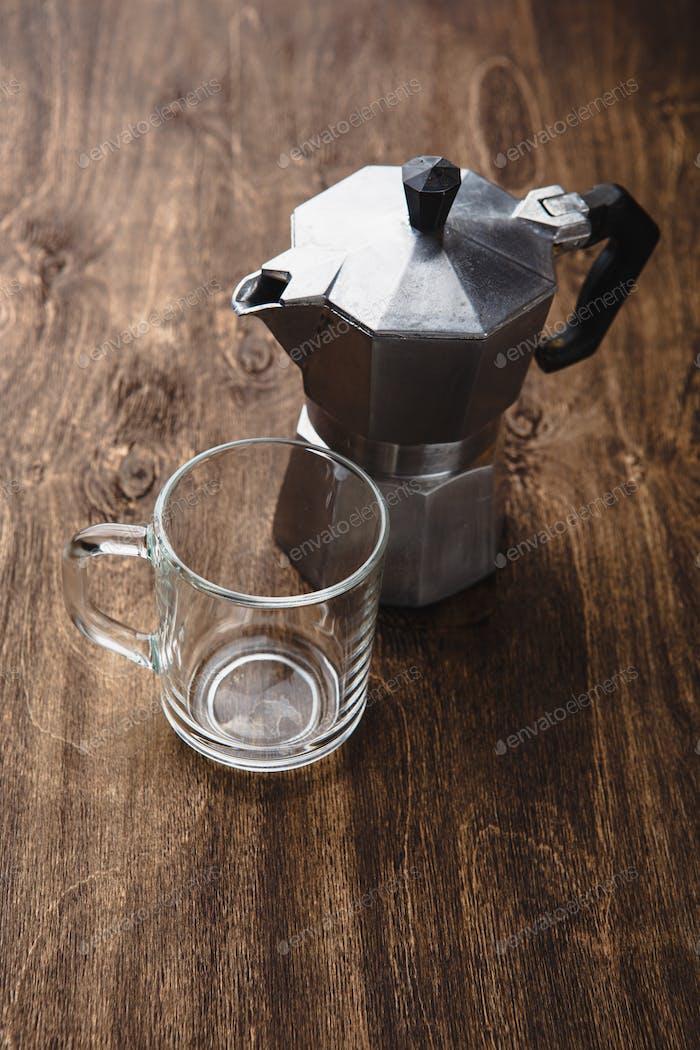 Kaffee Moka für italienischen Espresso.