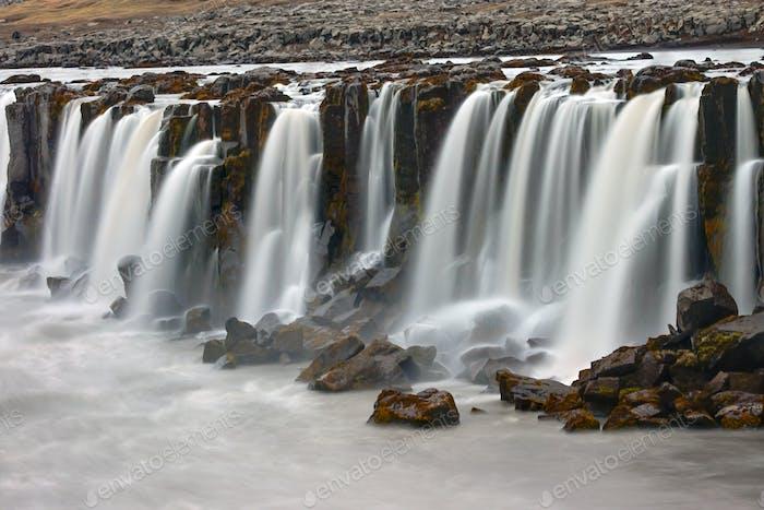 Der Selfoss-Wasserfall in Island