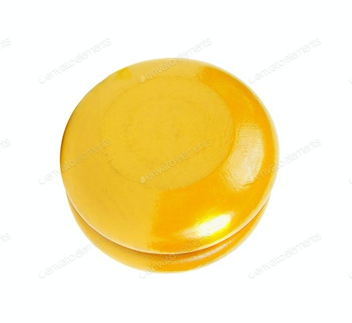 Yellow yo yo isolated
