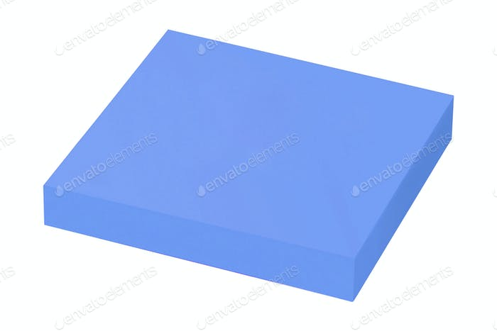 blue sticky notes isolated on white background