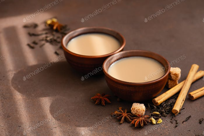 Two Cups of Spicy Masala Tea
