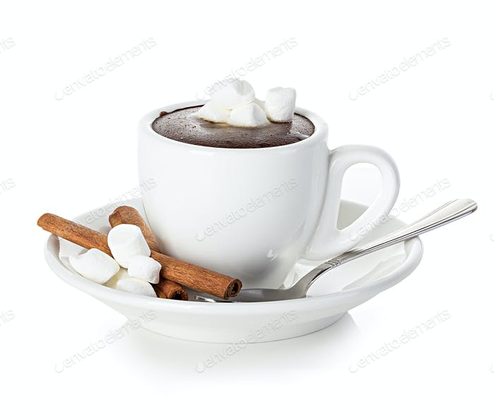 Hot chocolate isolated