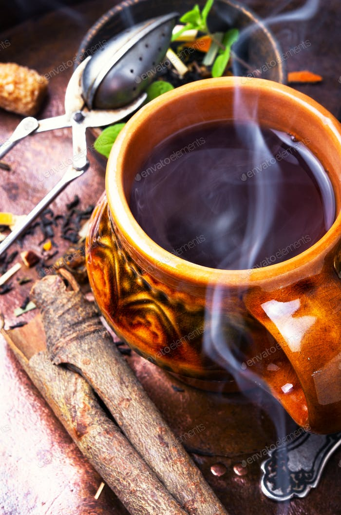 Hot herbal tea