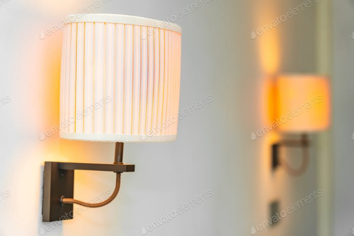 Light lamp decoration interior of room