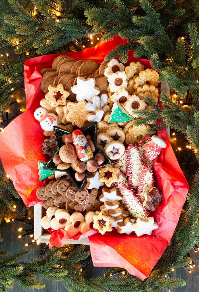 Selection of Christmas cookies