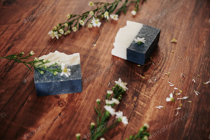 Balck and white soap bars