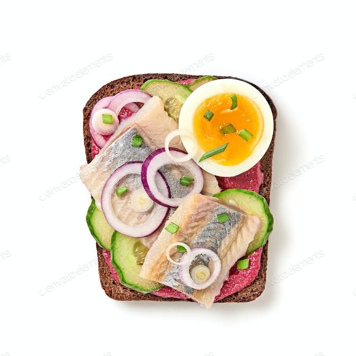 Offenes Sandwich