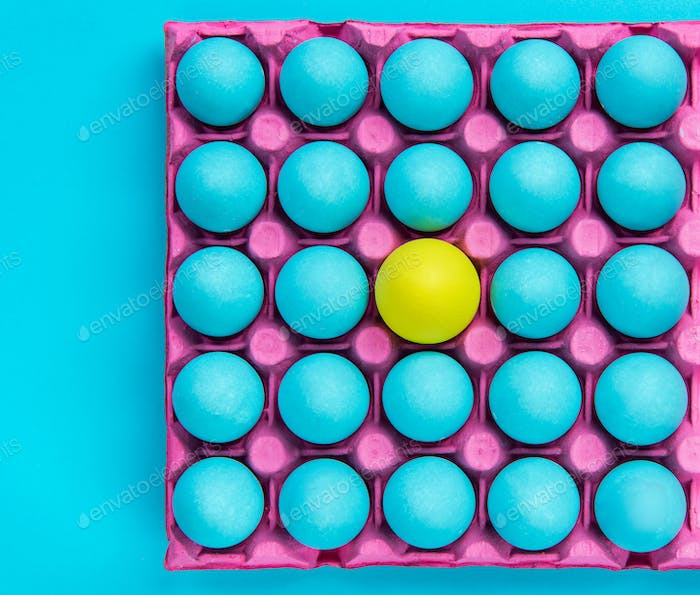 Creative pattern of pastel eggs,be yourself visual art
