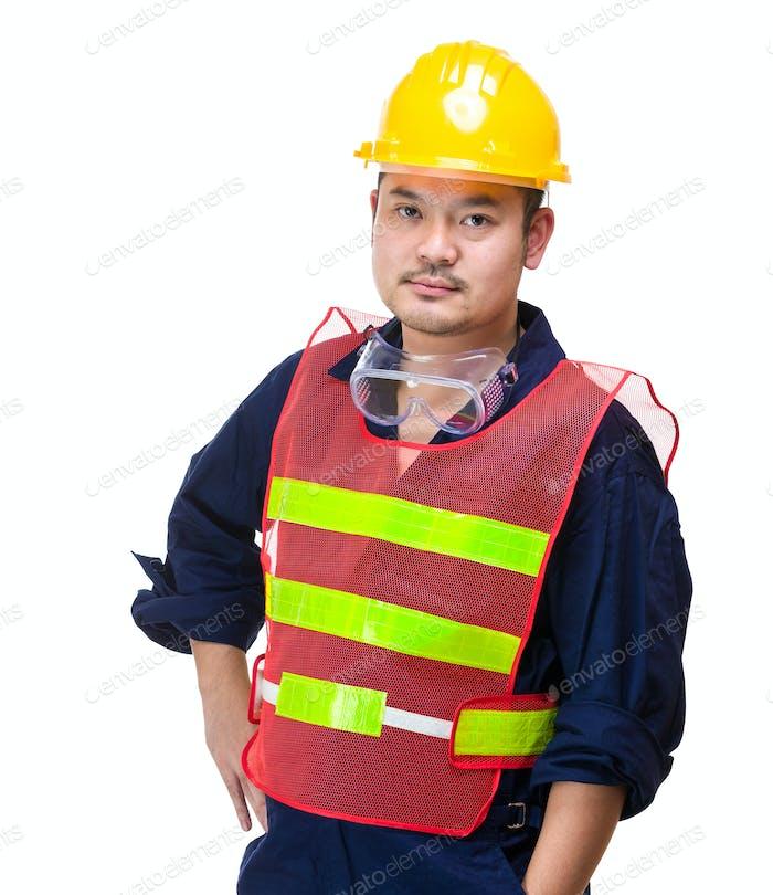 Asian construction worker