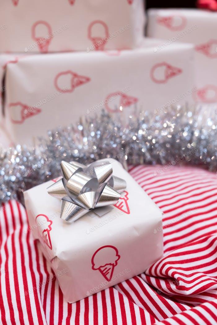 Christmas gift box decoration
