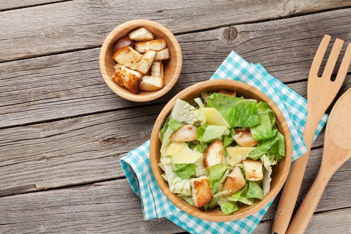 Fresh healthy caesar salad