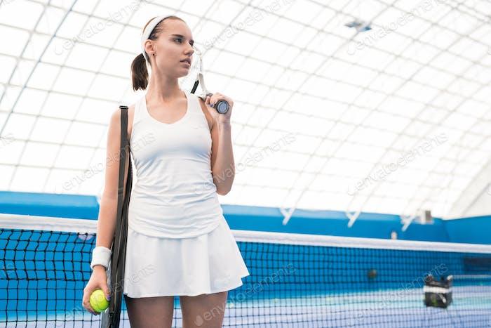Motivated Sportswoman in Court