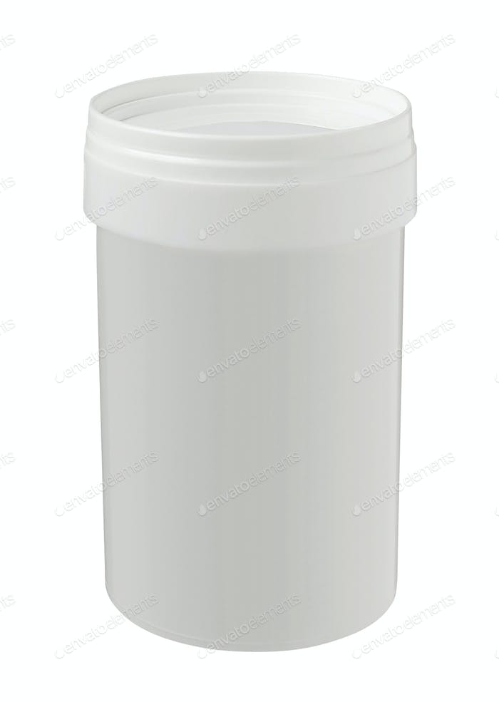 White Tub Paint Plastic Bucket Container.