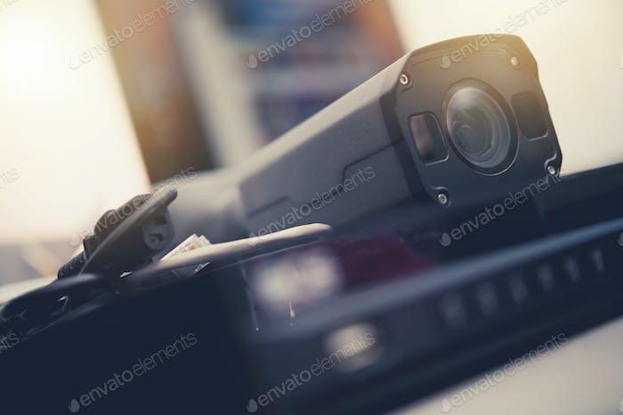 CCTV Modern IP Camera and Digital Recorder