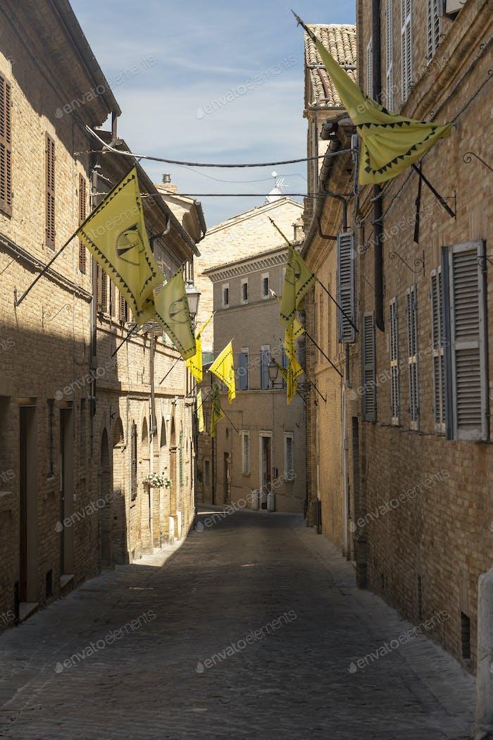 Street of Treia, Marches, Italy