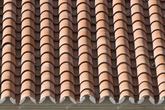 Nahaufnahme von alten Dachziegeln, Spanien